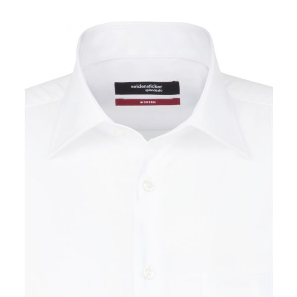 White Cotton Shirt. Modern Fit from Seidensticker