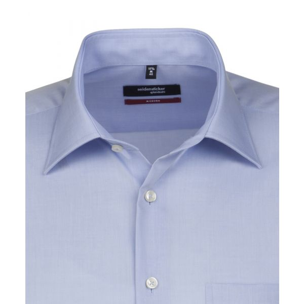Blue Cotton Shirt. Modern Fit from Seidensticker