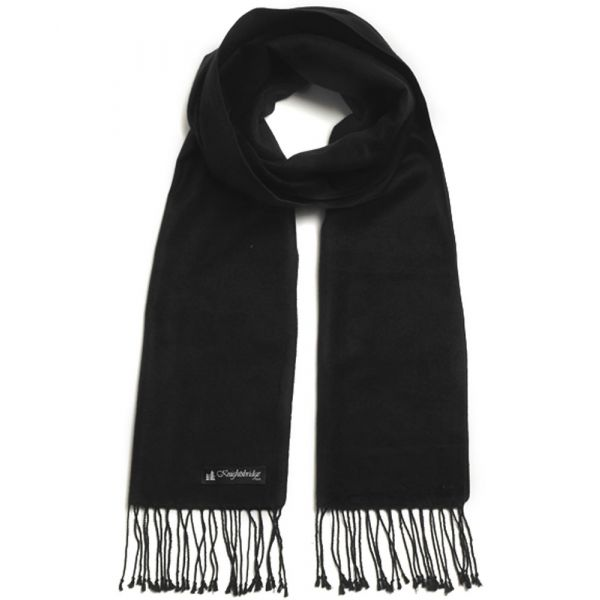 Black Brushed Silk Scarf by  Knightsbridge Neckwear