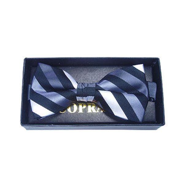 Black Stripes Silk Bow Tie