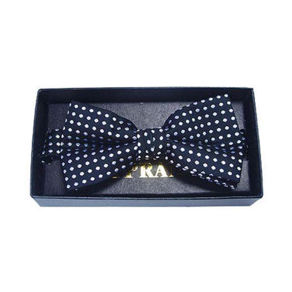 Black Polka Dot Silk Bow Tie