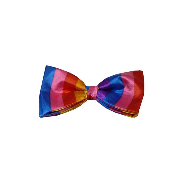 Multi Bright Striped Bow Tie from Van Buck