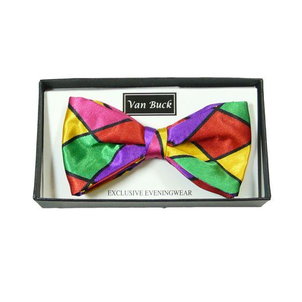 Multi Coloured Harlequin Bow Tie from Van Buck