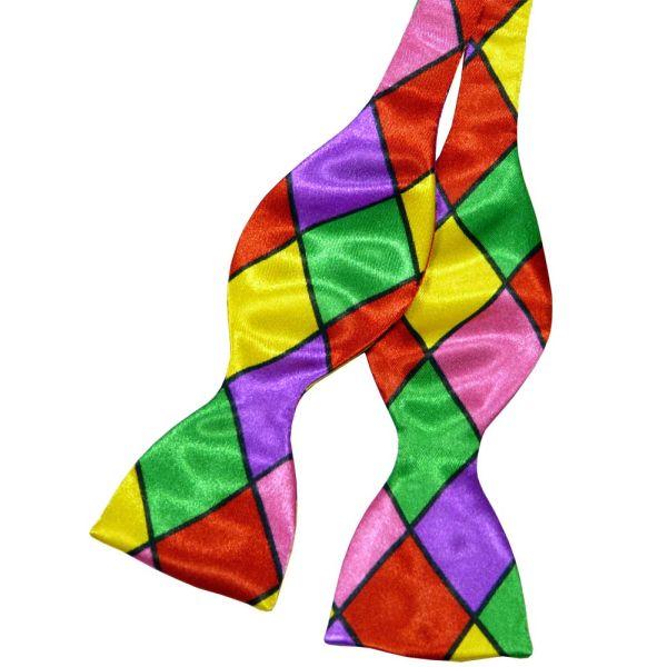Multi Coloured Self Tie Bow Tie from Van Buck