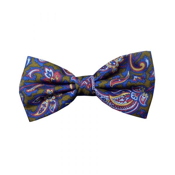 Gold Patterned Silk Bow Tie