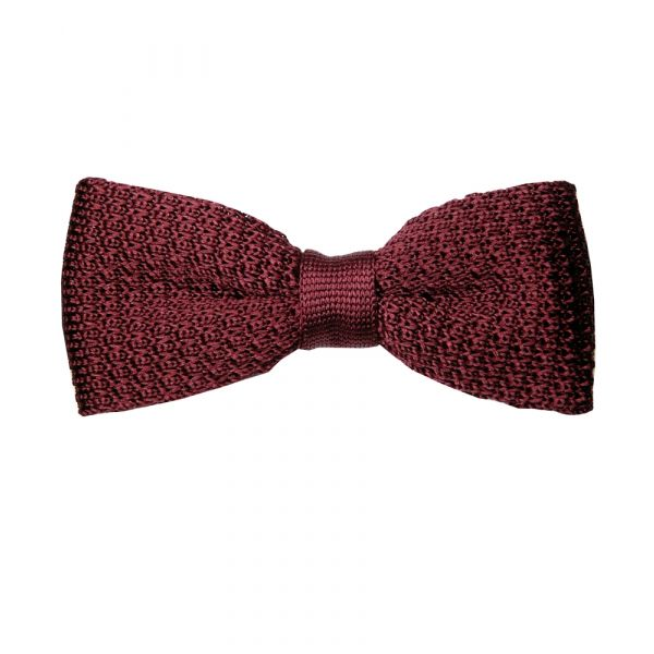 Wine Knitted Polyester BowTie
