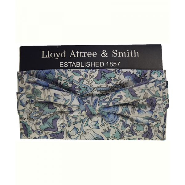 Made with Liberty Fabric Lodden in Blue Bow Tie and Hankie Set