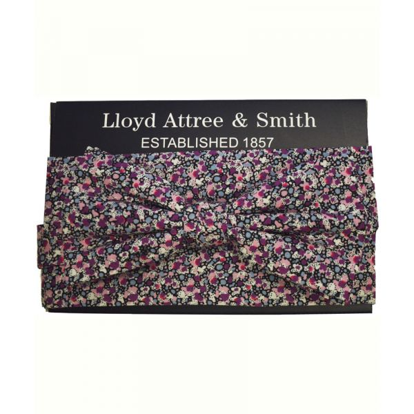 Made with Liberty Fabric Pepper in Purple Bow Tie and Hankie Set