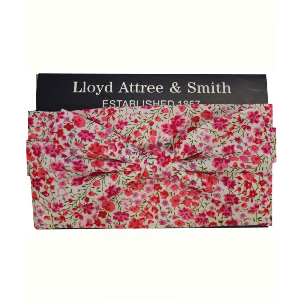 Made with Liberty Fabric Phoebe in Pink Bow Tie and Hankie Set