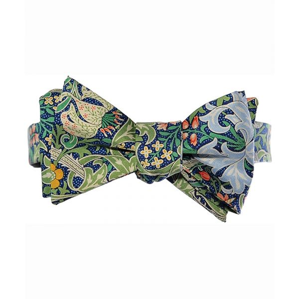 Morris Golden Lily Silk Bow Tie from Fox & Chave
