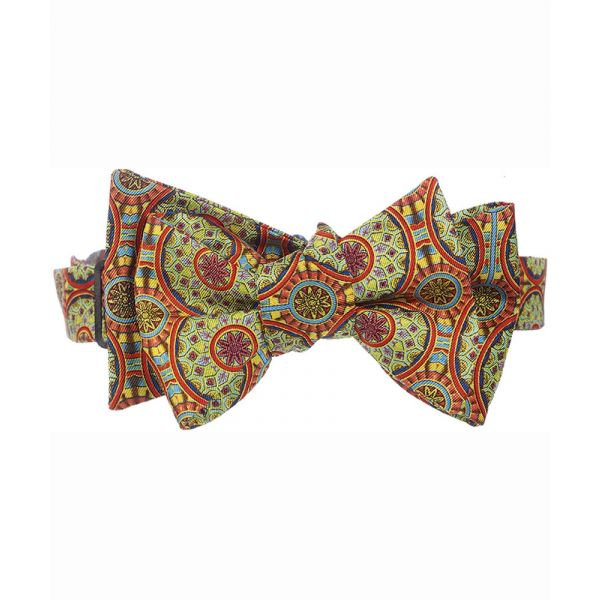 Adam Burnt Orange Silk Bow Tie from Fox & Chave