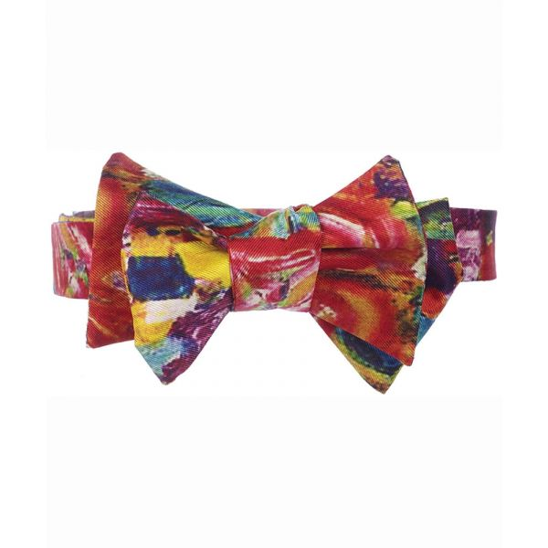 Klimt Multi Silk Bow Tie from Fox & Chave
