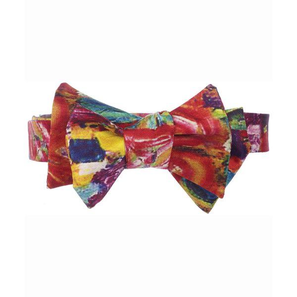 Klimt Multi Silk Bow Tie from Fox & Chave