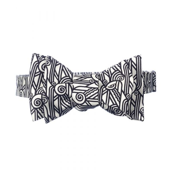 Deco Volute Silk Bow Tie from Fox & Chave