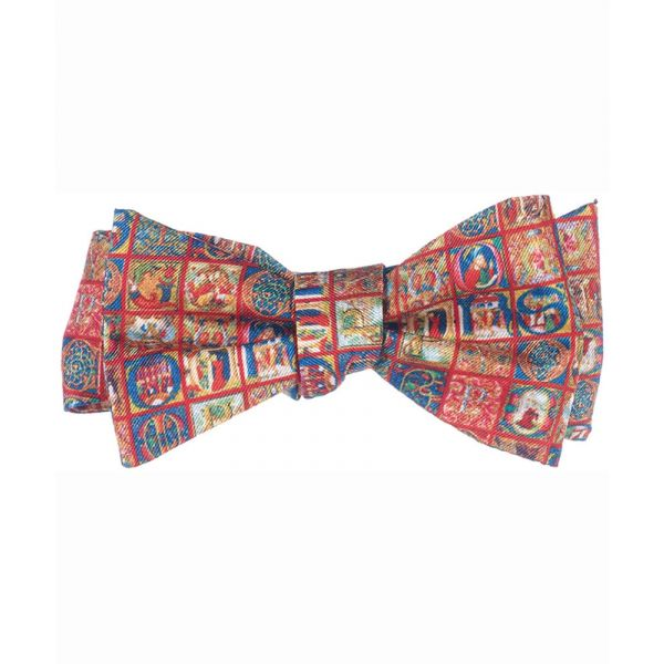 Medieval Alphabet Silk Bow Tie from Fox & Chave