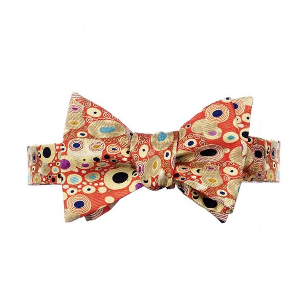 Klimt Red Silk Bow Tie from Fox & Chave
