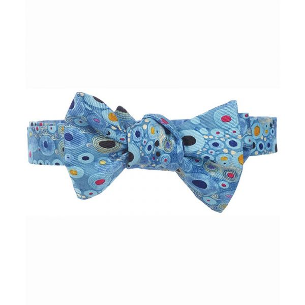 Klimt Turquoise Silk Bow Tie from Fox & Chave