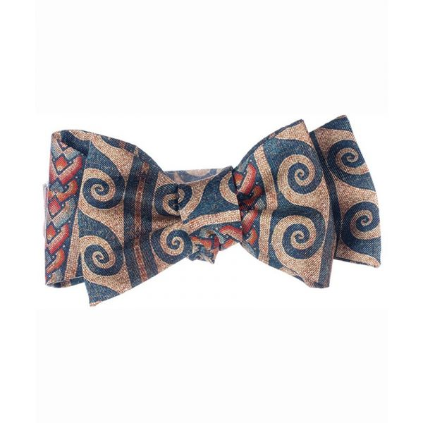 Roman Mosaic Self Tie Bow Tie from Fox & Chave