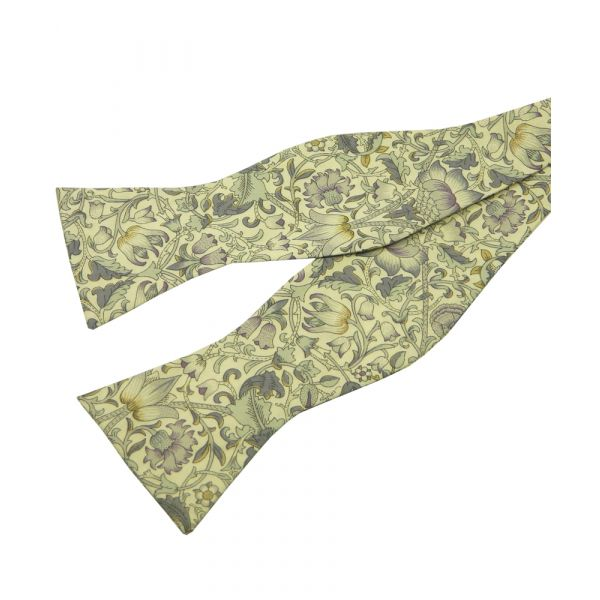 Lodden in Sage. Self Tie Liberty Cotton Bow Tie from LA Smith