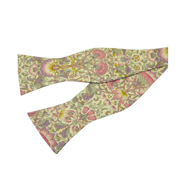Lodden in Pink. Self Tie Liberty Cotton Bow Tie from LA Smith