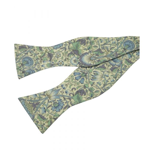Lodden in Blue. Self Tie Liberty Print Fabric Cotton Bow Tie from LA Smith