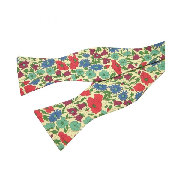 Poppy & Daisy in Red. Self Tie Liberty Cotton Bow Tie from LA Smith
