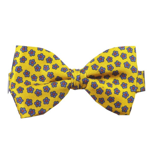 Pre-Tied Silk Bow Tie with Ditzy Flower Design from Hunt and Holditch