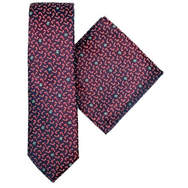 Festive Christmas Design Tie and Hankie Gift Set