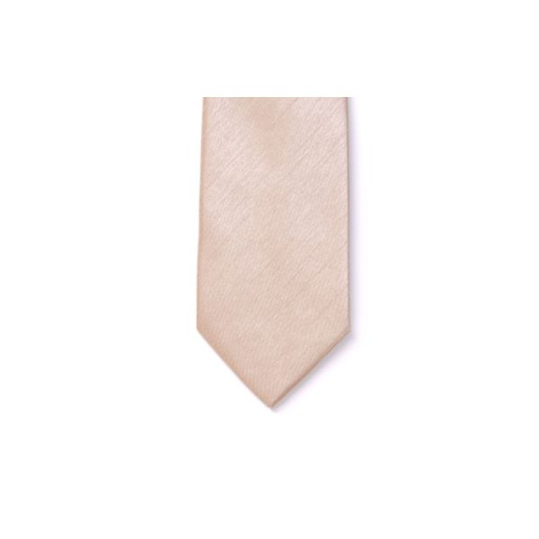 Champagne Polyester Shantung Men's Tie