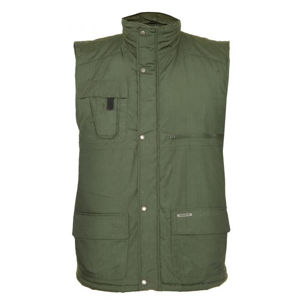 Peak. Olive Quilted Bodywarmer from The Country Estate Range by Champion