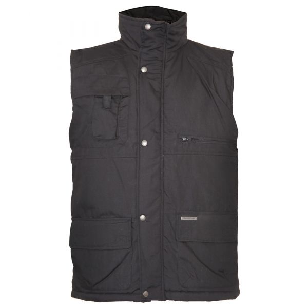 Peak. Black Quilted Bodywarmer from The Country Estate Range by Champion