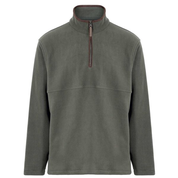 Oban Olive - Microfleece Quarter Zip Jacket from Champion