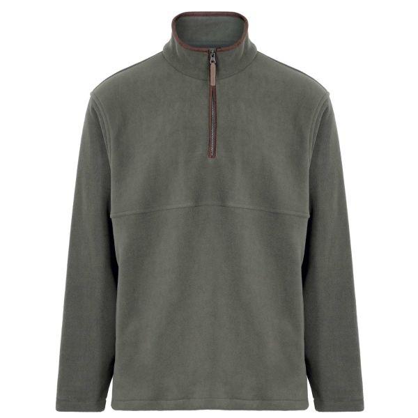 Oban Olive - Microfleece Quarter Zip Jacket from Champion