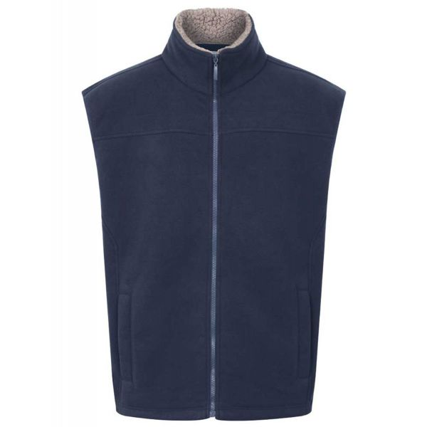 Saunton Navy - Microfleece Gilet with Sherpa Fleece Lining from Champion