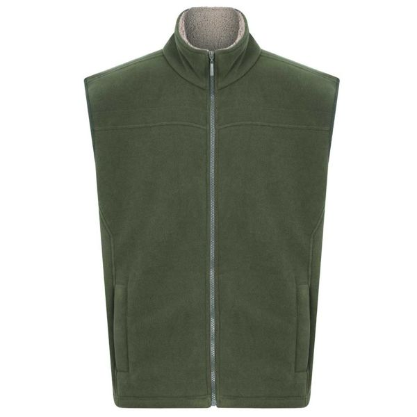 Saunton Olive - Microfleece Gilet with Sherpa Fleece Lining from Champion