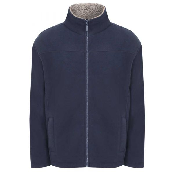 Otley Navy - Microfleece Jacket with Sherpa Fleece Lining from Champion