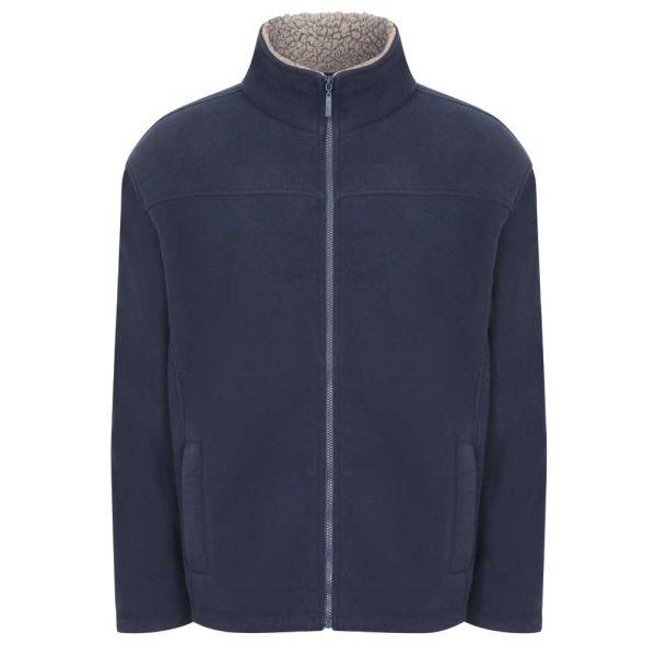 Otley Navy - Microfleece Jacket with Sherpa Fleece Lining from Champion