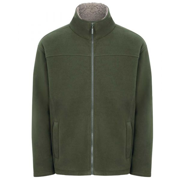 Otley Olive - Microfleece Jacket with Sherpa Fleece Lining from Champion