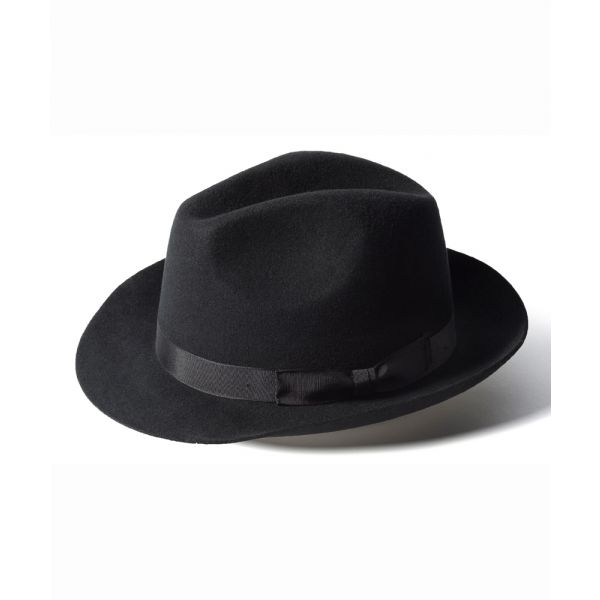 Black Trilby Hat from Failsworth Hats