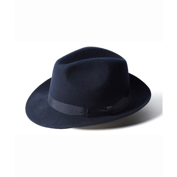 Navy Trilby Hat from Failsworth Hats