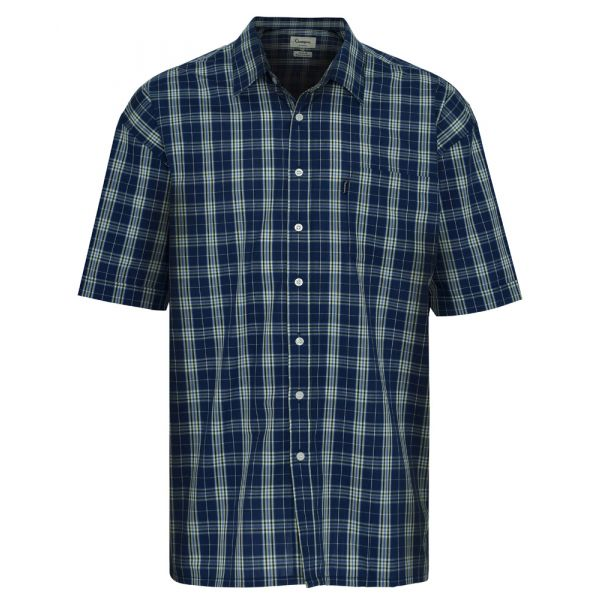 Brighton Blue. Short Sleeve Easycare Shirt from Champion