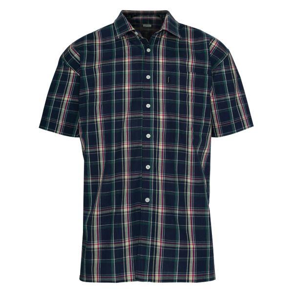 Brighton Navy. Short Sleeve Easycare Shirt from Champion