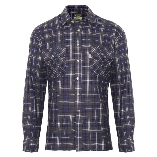 Kilbeggan Blue. Flannel Cotton Shirt from Champion