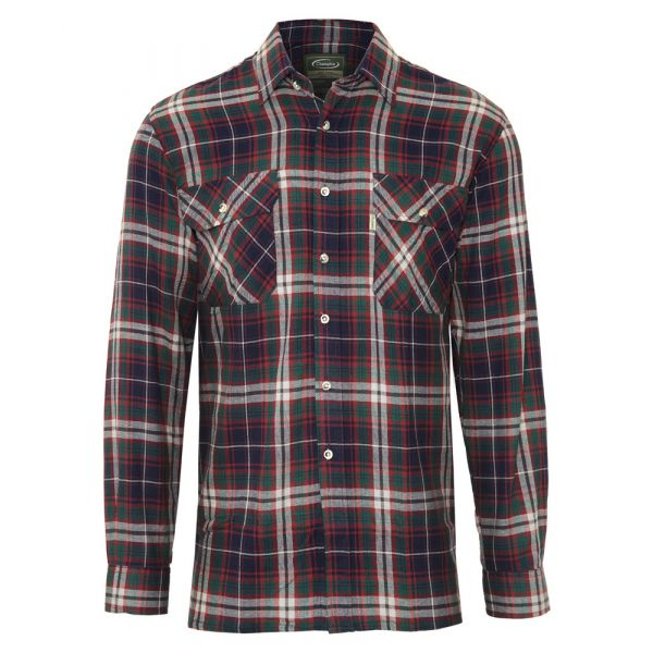 Kempton Blue. Flannel Cotton Shirt from Champion