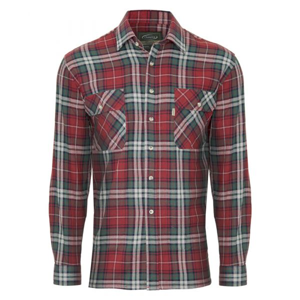Kempton Red. Flannel Cotton Shirt from Champion