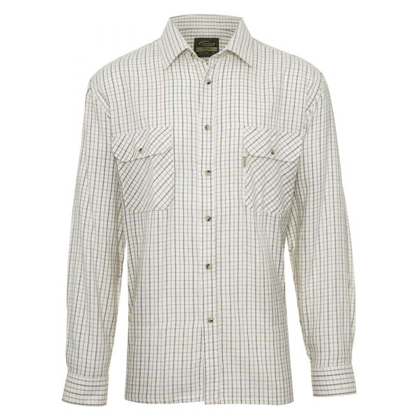 Tattersall Green. Flannel Cotton Shirt from Champion