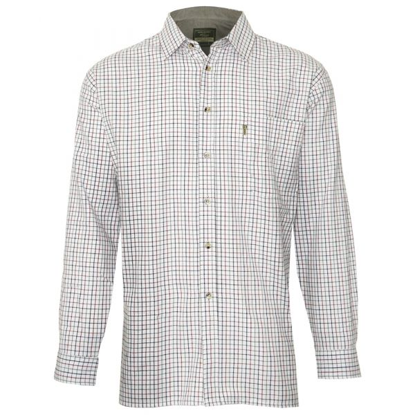 Ayr Blue. Fine Checked Cotton Shirt from Champion