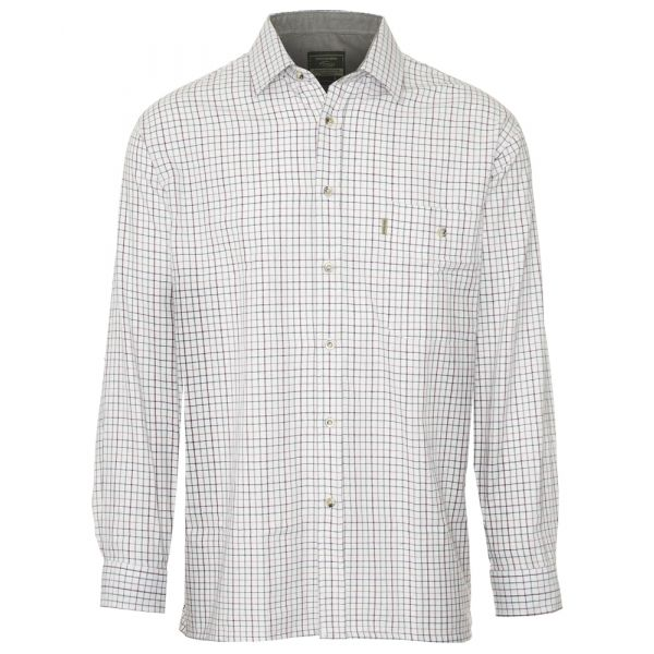 Ayr Green. Fine Checked Cotton Shirt from Champion