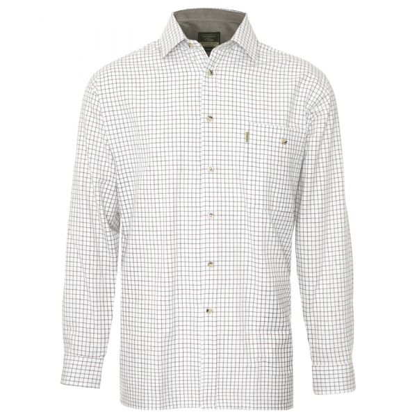 Ayr Wine. Fine Checked Cotton Shirt from Champion