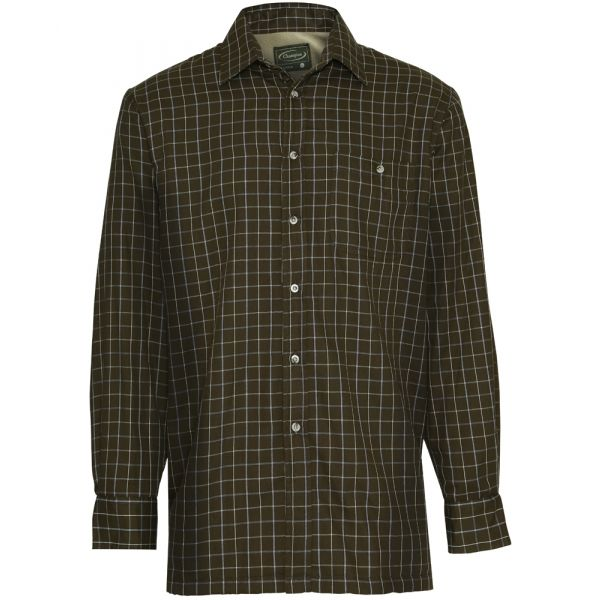 Milton Green. Micro Fleece Lined Cotton Rich Check Shirt from Champion